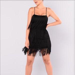 Dresses & Skirts - Black layered fringe dress